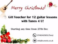 Exclusive Xmas Offer - 3 Months Of Guitar Lessons For £100!