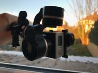 GoPro Gimbal - Feiyu G4 3-Axis for Hero4/3+/3 - Includes 2x carbon fibre poles & extra battery set