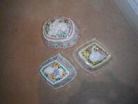 Set Of 3 The Franklin Mint LE CORDON BLEU Jelly Moulds 1986