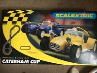 Scalextric- Caterham Cup with extras