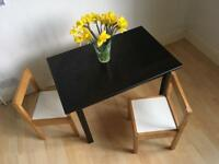 Small black Ikea children's table. Sundvik 50cm high cheap