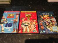 Toy story 1-3 DVD's