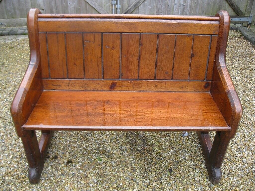 2 Seater Old Church Pew Delivery Possible Also Small Chapel Chairs For