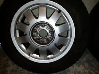 Set of 4 Audi alloy wheels with tyres