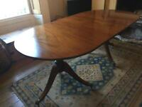Antique mahogany 8 seater dining table