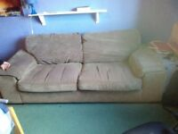 Free Sofa. Bought from Harvey's. Beige with removable machine washable covers. Very comfortable.