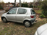 2001 toyota yaris 1 litre damaged unrecorded