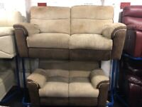 NEW - EX DISPLAY LAZYBOY CORD 3 + 2 SEATER RECLINER SOFAS SOFA 75% Off RRP SALE