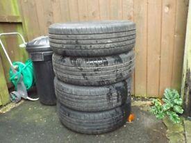 Set of Car Tyres