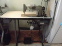 jones brother industrial sewing machine and accsesories