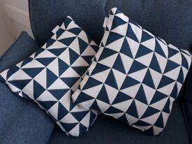 French Connection cushions in Zinc 'blue' x four