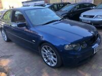 BMW 325i COMPACT M SPORT AUTOMATIC HATCHBACK 2003 NEW MOT LEATHER CLEAN NEW MOT
