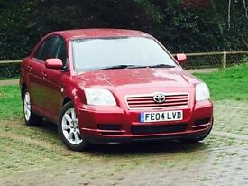2004 TOYOTA AVENSIS 1.8 Vvti T3*5 SERVICE STAMPS*LONG MOT*NEW CLUTCH*FREE 3 MONTH WARRANTY*MUST SEE*
