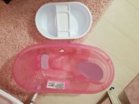 Pink glitter baby bath and wash bowl