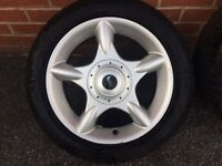 """BMW wheels Mini Cooper 16"""" Alloy and tyre Spare Alloy 5th wheel"""