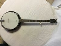 Banjo, Grafton Clipper , left handed, 5 string + hard case