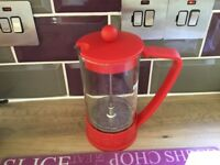 Bodum coffee cafetière red