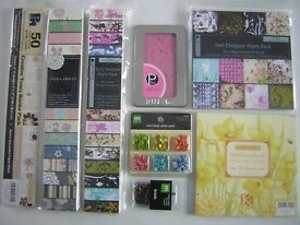 Card making bundle, paper craft, scrapbooking. Bargain! Great condition, most are new.