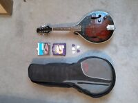 Stagg Mandolin, with case and spare set of new strings