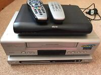 DVD player+VHS player+Sky HD box all for £20