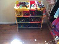 Children wooden toy storage