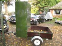 UNIQUE 6-0 X 4-0 BOX & BED GOODS TRAILER..... 750KG UNBRAKED......