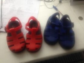 2 pairs of river island jellies size 8