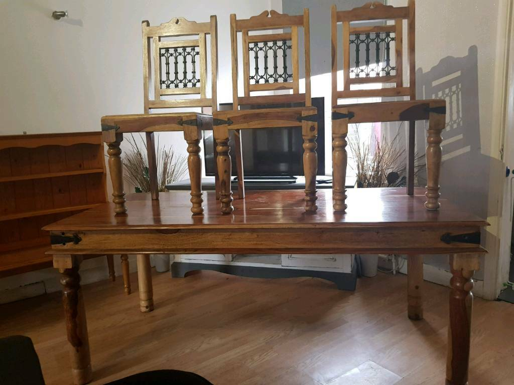 Indian Oak Dining Table