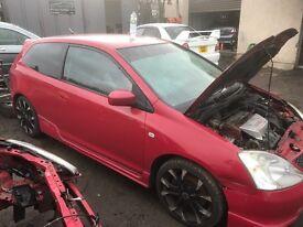 Honda Civic Type r breaking Ep3 k20a2 k swap k20