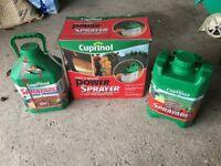 Cuprinol Power Sprayer - Used Plus 2 x containers 90% full