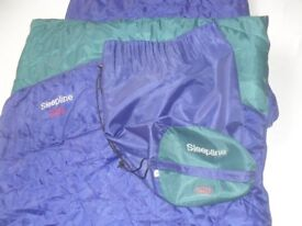 SLEEPLINE 250 MUMMY SLEEPING BAG - GOOD CONDITION HARDLY USED WITH CARRYING CASE