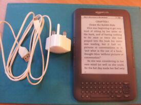 Amazon Kindle Keyboard 3GB storage of books, audio books, large font