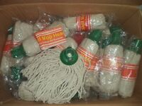 Job Lot 9,000 Cotton Mop Heads Refill with Plastic Socket-Home-Cleaning 4 Color Socket