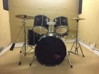 Full Drum Kit - Mapex Mars Kit with Hi hats, Cymbals and rare Premier 2000 Snare