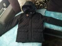Mens brand new blck coat with tags size m medium