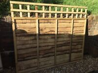 6ft x 5ft high fence panels with trellis on the top