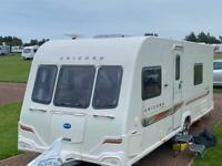 Bailey Unicorn Valencia 2011 4 berth fixed bed caravan with mover
