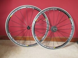Mavic Ksyrium Elite Wheel Set 100 Miles Dry Use Only, Pristine Unmarked Condition.
