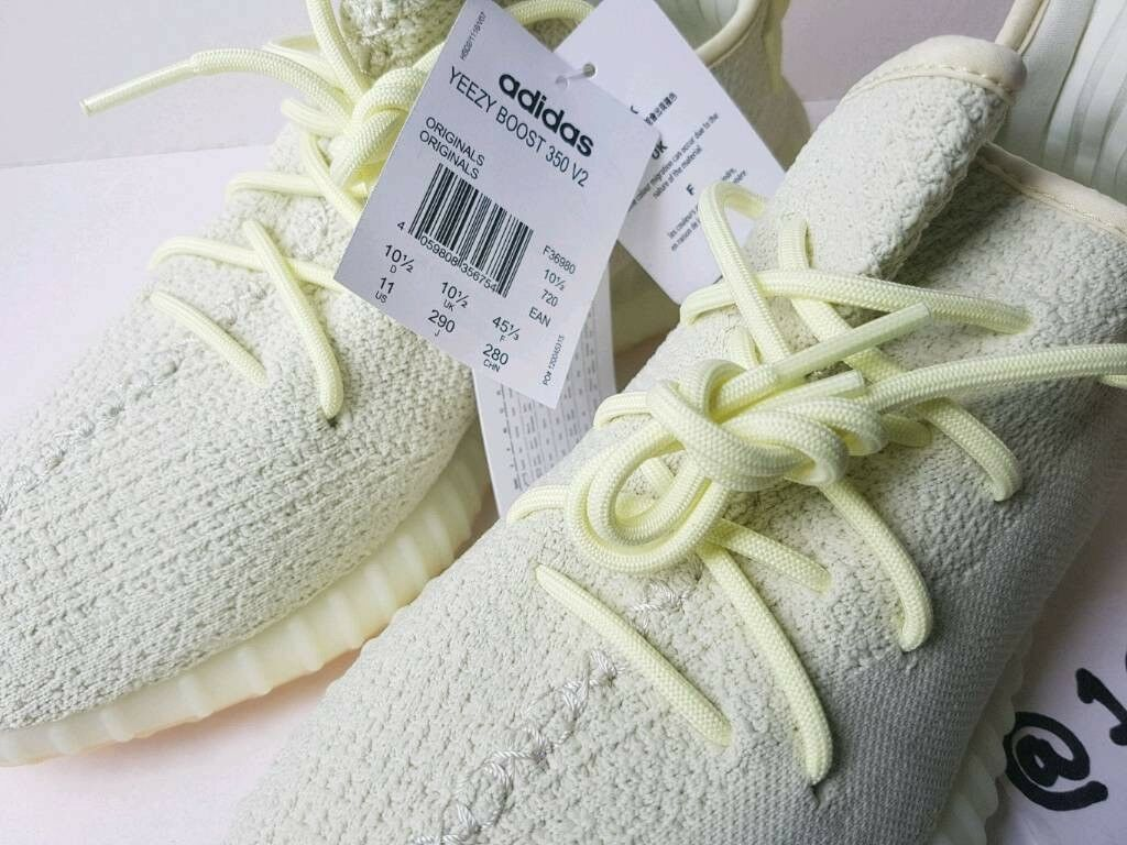 e2bbdec53a57 ADIDAS x Kanye West YeezyBoost 350 V2 BUTTER F36980 UK10.5 EU45 1 3 US11  FOOTLOCKER RECEIPT 100sales