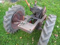 Garden Tractor. Allen Mayfield, chassis, gearbox and wheels.