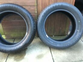 2x 17 inch almost new good year tyres