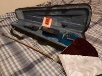 Electric Violin 4/4 6-String - Full Kit w/ Bow, Shoulder Rest, Tuner & Case