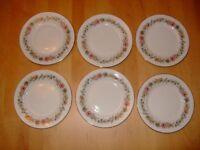 6 Paragon Belinda Pretty Floral China Side Plates