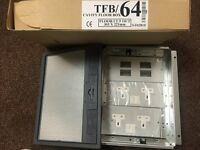 Tass TFB/64 cavity floor socket boxes *NEW IN BOX* 22 available