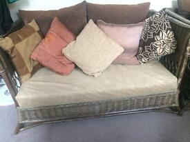 4 piece cane furniture only £50 cushions included