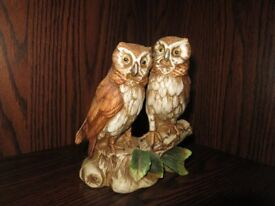 Selection of Vintage 1980's Owl Ornaments