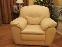 3 sitter leather sofa with armchair and 2 sitter sofa