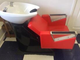 Hair back wash basin and chair