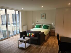 -A beautiful large and modern studio apartment right in Limehouse E14 - available NOW - only £275pw!