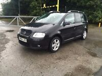 2007 vw touran 2.0 tdi sport 7 seater swap st2 x5